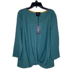 NWT. ANTHRO (W5) Twist Front Top